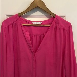 Bright happy pink tunic.  Party?